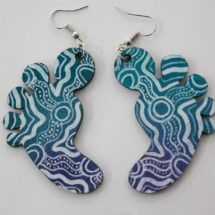 Lily-mae Kerley - Footprint Earrings
